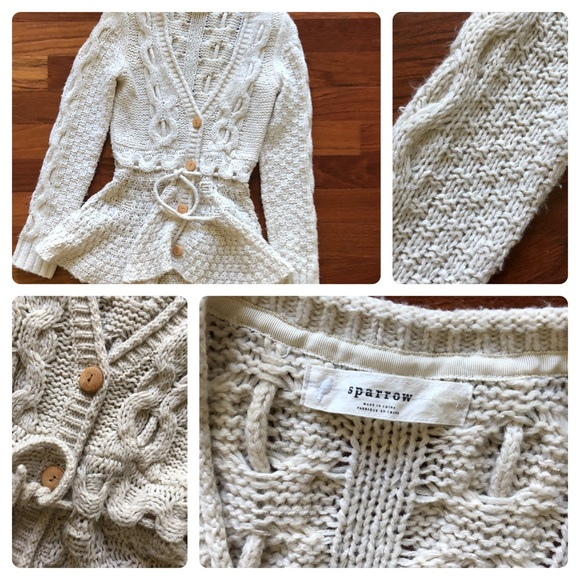 Anthropologie Sweaters - Anthropologie's Sparrow Peplum Sweater in Cream